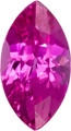 Lab Grown Pink Sapphire  14mm x 7mm Marquise Lot of 4 Stones