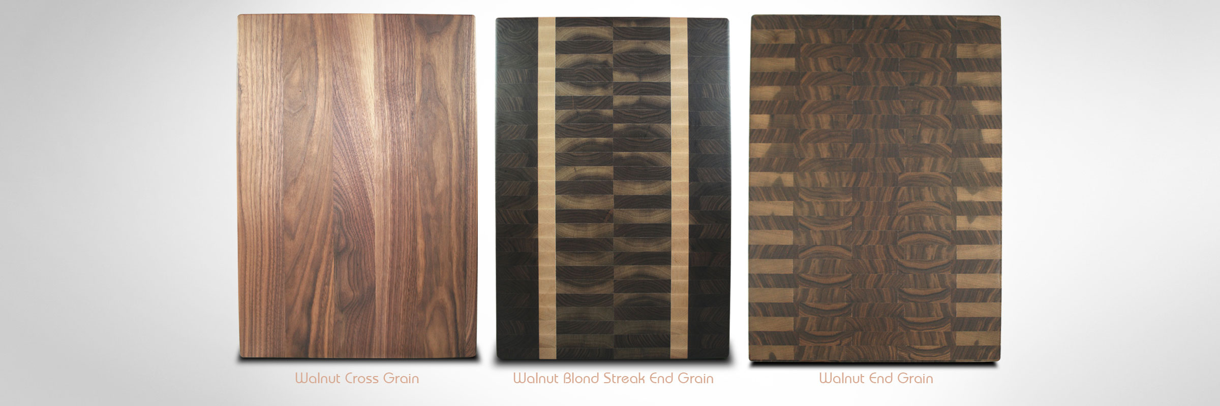 Walnut Cross Grain | Walnut Blond Streak End Grain | Walnut End Grain Chopping Blocks