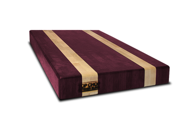 Purple Heart with Maple Blonde Streaks End Grain Butcher Block