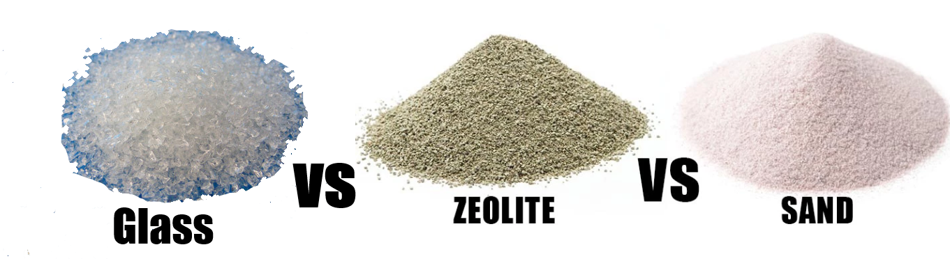 Glass vs Zeolite vs Sand