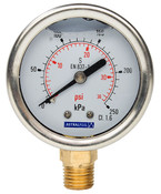 Hurlcon Pressure Gauge Lower Mount Liquid Filled
