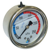 Pressure Gauge - Stainless Steel Oil Filled - Centre Back Mount