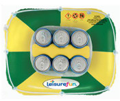 Aussie Floating Can Cooler - Green & Gold