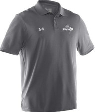 UA Mens Performance Team Polo - Carbon Grey