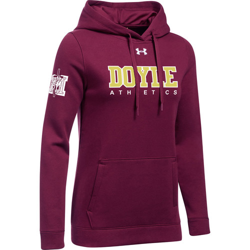 MDC Under Armour Womens Hustle Fleece Hoody - Maroon (MDC-021-MA)