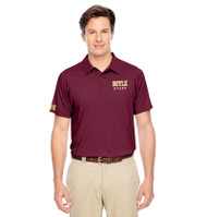 MDC Men's Team 365 Charger Performance Polo - Maroon