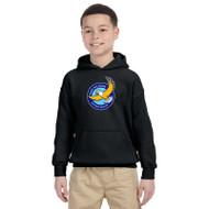 GWP Gildan Youth Heavy Blend Hooded Sweatshirt - Black (GWP-048-BK)