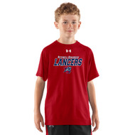 ROD Under Armour Youth Short Sleeve Locker Tee - Red