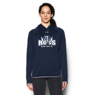 JFR Under Armour Women's Double Threat Armour Fleece Hoodie - Navy/Steel (JFR-132-NY)
