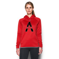 SAQ Under Armour Women's Double Threat Hoody - Red
