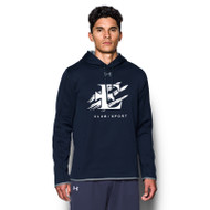 EDN Under Armour Men's Double Threat Fleece Hoody - Navy (EDN-001-NY)