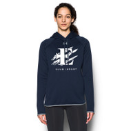 EDN Under Armour Women's Double Threat Fleece Hoody - Navy (EDN-021-NY)
