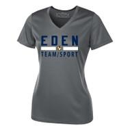 EDN ATC Pro Team Ladies' V-Neck Tee - Coal Grey (EDN-031-CG)
