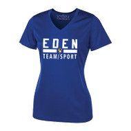 EDN ATC Pro Team Ladies' V-Neck Tee - Royal (EDN-031-RO)