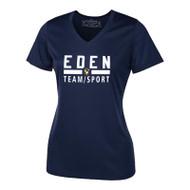 EDN ATC Pro Team Ladies' V-Neck Tee - Navy (EDN-031-NY)