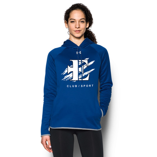 EDN Under Armour Women's Double Threat Fleece Hoody - Royal (EDN-021-RO)