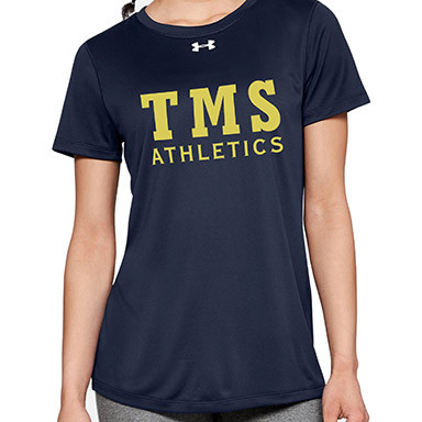 TMS Under Armour Women's Short Sleeve Locker 2.0 Tee - Navy (TMS-021-NY)