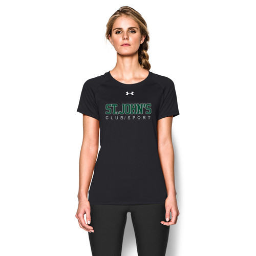 SJC Under Armour Women's Short Sleeve Locker Tee - Black (SJC-022-BK)