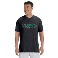 SJC Athletic Knit Apparel Men's Short Sleeve T-Shirts - Black (SJC-011-BK)