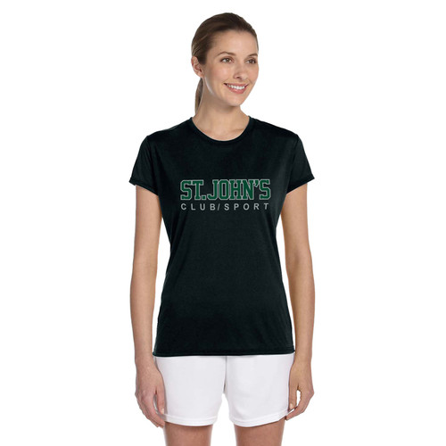 SJC Apparel Women's Short Sleeve T-Shirts - Black (SJC-031-BK)