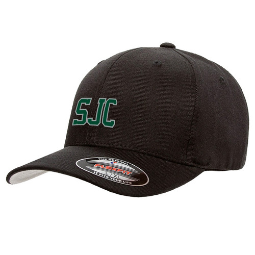 SJC Flexfit Wool Blend Cap - Black (SJC-053-BK)