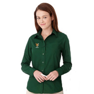 CSS Preston Ladies Long Sleeve Shirt - Forest Green (CSS-071-FO)