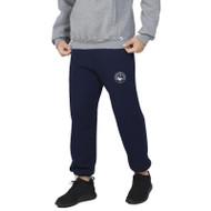 HSS Russell Men's Dri-Power Closed-Bottom Pocket Sweatpant with Pockets - Navy (HSS-012-NY)