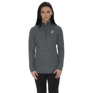 OLL ATC Dynamic Heather Fleece 1/2 Zip Ladies' Sweatshirt - Charcoal Gray (OLL-037-CH)