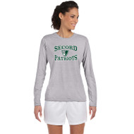 LSS Gildan Women's Long Sleeve Performance Tee - Sport Grey (LSS-032-SG)