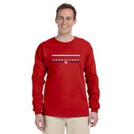 HLS Gildan Men's Ultra Cotton Long Sleeve T-Shirt - Red (HLS-012-RE)