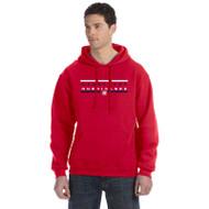 HLS Russell Men's Dri-Power Fleece Hoodie - Red (HLS-013-RE)