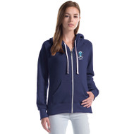 SMC Ladies Three-End Bamboo Full Zip Hooded Sweatshirt - Navy (SMC-031-NY)