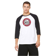 JMS All Sport Unisex Baseball T-Shirt - White/Black (JMS-013-WB)