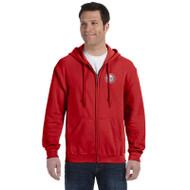 JMS Gildan Heavy Blend Adult Full Zip Hooded Sweatshirt - Red (JMS-014-RE)