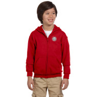 JMS Gildan Heavy Blend Youth Full Zip Hooded Sweatshirt - Red (JMS-049-RE)
