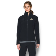GBS Under Armour Women's Squad Woven Warm-Up Jacket - Black (GBS-024-BK)