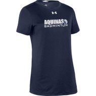 STA Badminton Under Armour Women's Short Sleeve Locker 2.0 Tee - Navy (STA-127-NY)