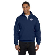 EDN Jerzees Adult NuBlend Quarter-Zip Cadet Collar Sweatshirt - Navy (EDN-015-NY)