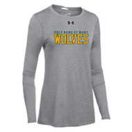 HNM Under Armour Women's Long Sleeve Locker Tee 2.0 - True Grey (HNM-022-TG)