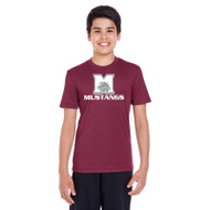 MCO Team 365 Youth Zone Performance T-Shirt - Maroon (MCO-046-MA)