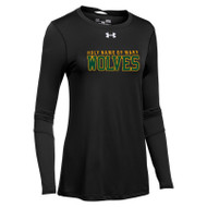 HNM Under Armour Women's Long Sleeve Locker Tee 2.0 - Black (HNM-022-BK)