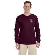 SMO Gildan Adult Ultra Cotton Long Sleeve T-Shirt - Maroon (SMO-015-MA)