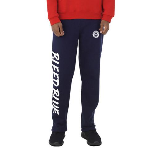 KSS Russell Youth Dri-Power Open-Bottom Pocket Sweatpants - Navy (KSS-049-NY)