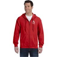 WJH Gildan Adult Heavy Blend, 50/50 Full-Zip Hoody - Red (WJH-012-RE)