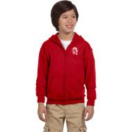 WJH Gildan Youth Heavy Blend 50/50 Full-Zip Hoody - Red (WJH-047-RE)