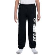 WJH Gildan Youth Heavy Blend 50/50 Sweatpants - Black (WJH-048-BK)