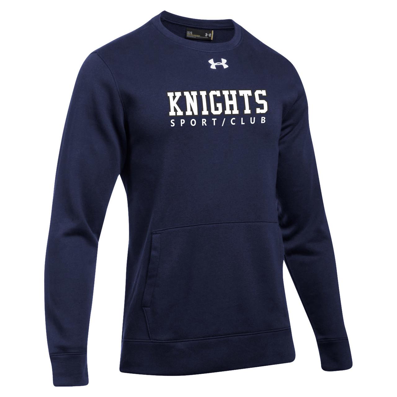 zaoszczędź do 80% klasyczny styl wysoka jakość BCI Under Armour Men's Hustle Fleece 2.0 Crew Pullover - Navy