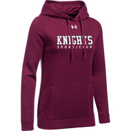 BCI Under Armour Women's Hustle Fleece Hoodie - Maroon (BCI-109-MA)