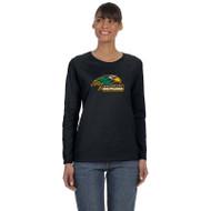 NPS Gildan Ladies' Heavy Cotton Long Sleeve T-Shirt - Black (NPS-201-BK)