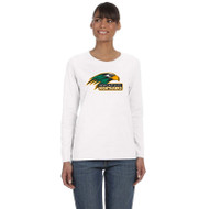 NPS Gildan Ladies' Heavy Cotton Long Sleeve T-Shirt - White (NPS-201-WH)